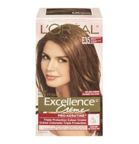L Oreal Excellence Creme Hair Color 6cb Light Chestnut Brown Warmer 2 Pack