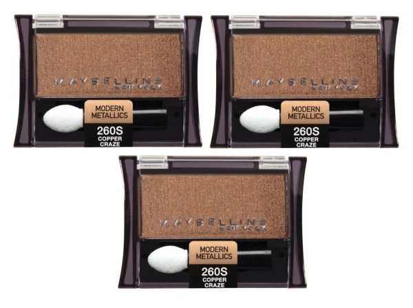 LOT-OF-3-MAYBELLINE-EXPERT-WEAR-MODERN-METALLICS-EYE-SHADOW-260S-COPPER-CRAZE-301940232468